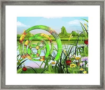 U F O In A River Art Framed Print