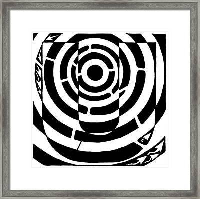 U-maze Framed Print by Yonatan Frimer Maze Artist
