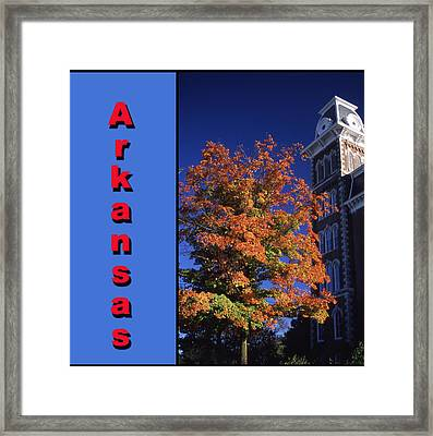U Of A Old Main Framed Print by Curtis J Neeley Jr