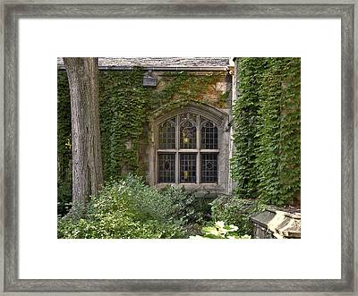 U Of M Halls Of Ivy Framed Print