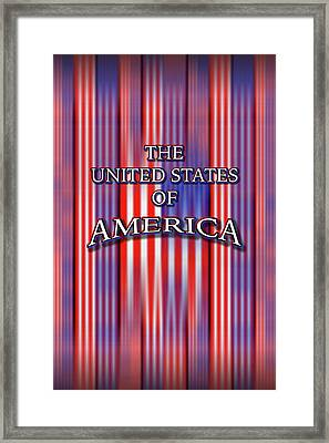 U S A 1 Framed Print by Mike McGlothlen