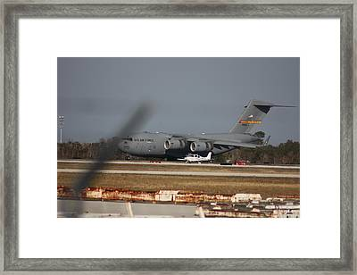 Framed Print featuring the photograph U S Airforce Plane by Michael Albright