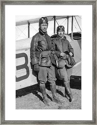 U. S. Army Aero Corps Pilots Framed Print by Underwood Archives