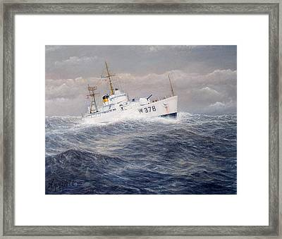 U. S. Coast Guard Cutter Halfmoon Framed Print by William H RaVell III