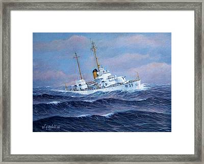 U. S. Coast Guard Cutter Owasco Framed Print by William H RaVell III