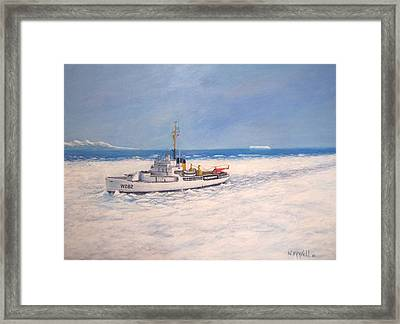 U. S. Coast Guard Icebreaker Northwind Framed Print by William H RaVell III