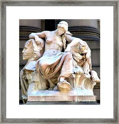 U S Custom House 3 Framed Print