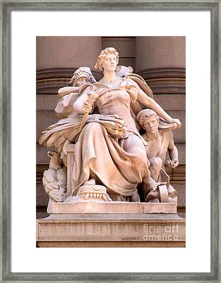 U S Custom House 4 Framed Print