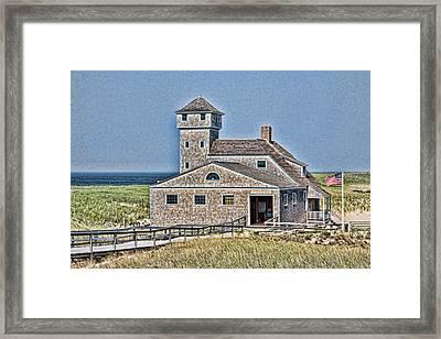 U S Lifesaving Station Framed Print by Stephen Stookey