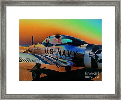 U S Navy  Framed Print by Diane E Berry