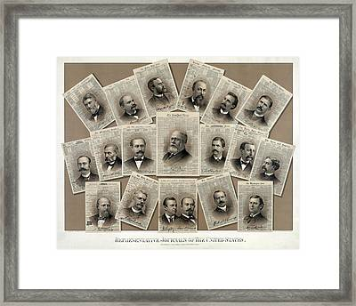U. S. Newspaper Publishers 1885 Framed Print