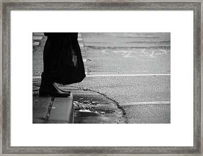 Framed Print featuring the photograph U Stopped Me On My Tracks  by Empty Wall