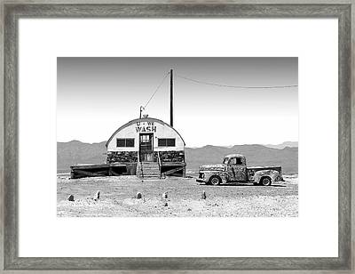 U - We Wash - Death Valley Framed Print