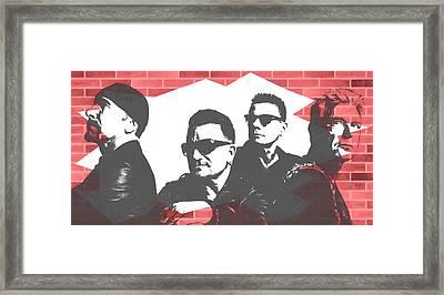 U2 Graffiti Tribute Framed Print by Dan Sproul