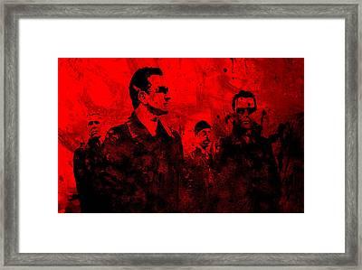 U2 Rock On Framed Print by Brian Reaves