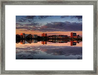 Ub Campus Across The Pond Framed Print