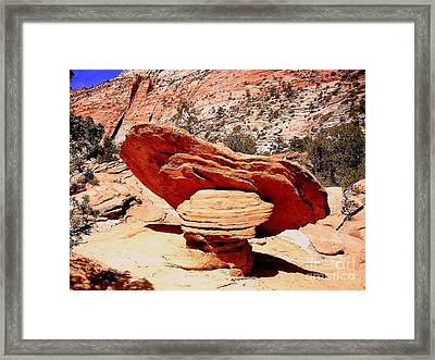 Ubalanced Rock Framed Print by Marty Koch