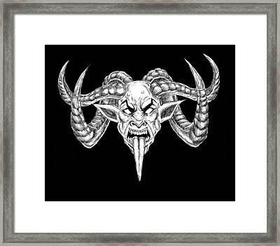 Uber Goat Framed Print