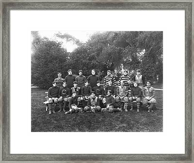 Uc Berkeley 1900 Football Team Framed Print