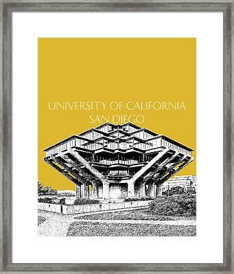 Uc San Diego Gold Framed Print by DB Artist
