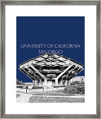 Uc San Diego Navy Blue Framed Print by DB Artist