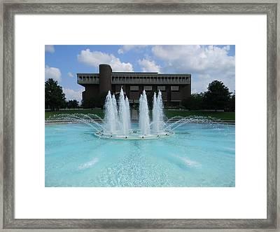 Ucf Reflection Pond Framed Print by Warren Thompson
