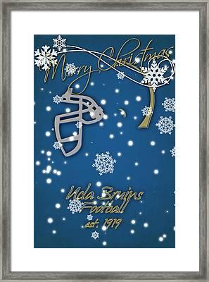 Ucla Bruins Christmas Card Framed Print by Joe Hamilton