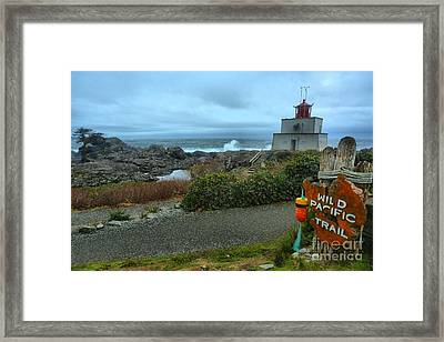 Ucluelet Briish Columbia Lighthouse Framed Print by Adam Jewell