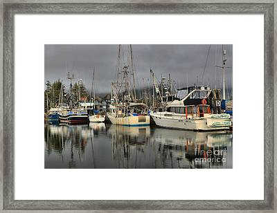 Ucluelet Fishing Crew Framed Print by Adam Jewell