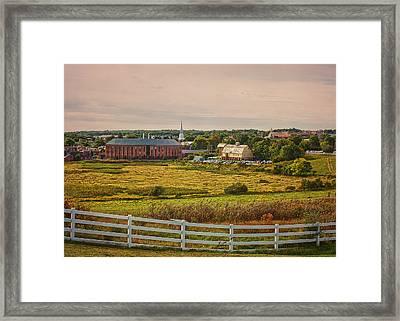Uconn Horsebarn Hill Skyline #2 Framed Print by Steve Pfaffle