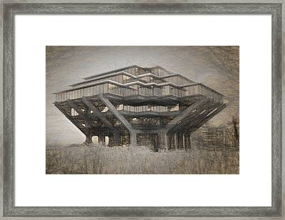 Ucsd Library Sketch Framed Print