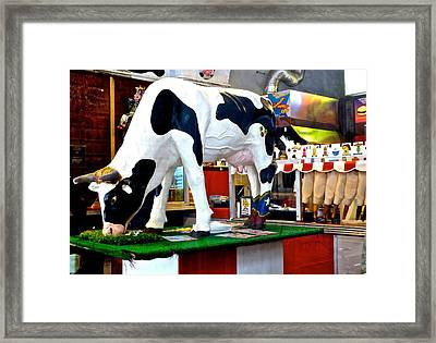 Udderly Unexpected Framed Print by Amelia Racca
