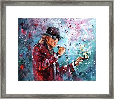 Udo Lindenberg 01 Framed Print by Miki De Goodaboom