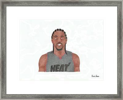 Udonis Haslem Framed Print