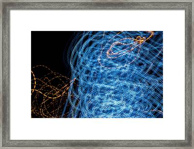 Ufa Neon Abstract Light Painting Sodium #7 Framed Print