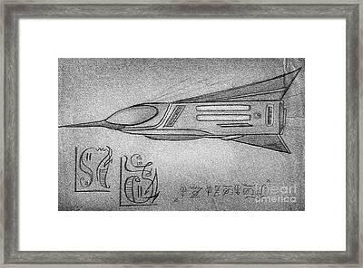 Ufo Alien Space Shuttle Framed Print by Sofia Metal Queen