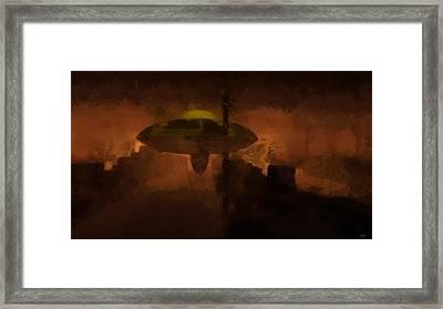 Ufo Area 51 Framed Print by Raphael Terra