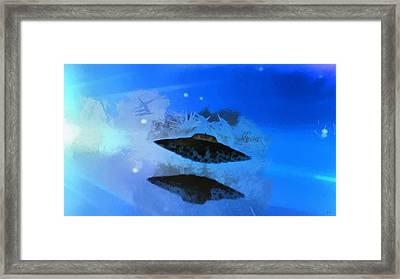 Ufo Blue Framed Print by Raphael Terra