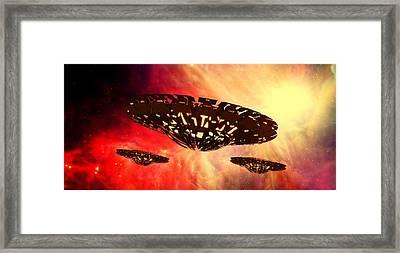 Ufo By Raphael Terra Framed Print
