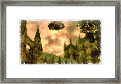 Ufo Cathedral Framed Print by Esoterica Art Agency