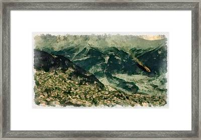 Ufo Going Down Framed Print by Esoterica Art Agency