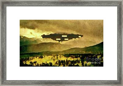 Ufo In The Country Framed Print
