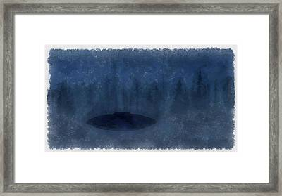 Ufo In The Mist Framed Print by Esoterica Art Agency