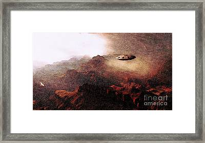 Ufo In The Mountains Framed Print