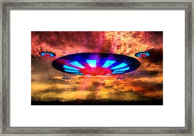 Ufo Invaders Framed Print by Raphael Terra