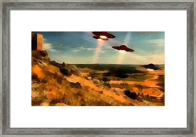 Ufo Invasion Framed Print