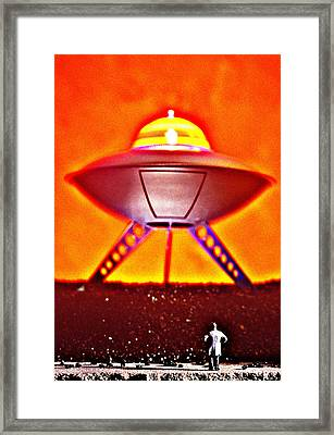 UFO Framed Print by L S Keely