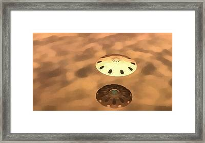 Ufo Over Water Framed Print