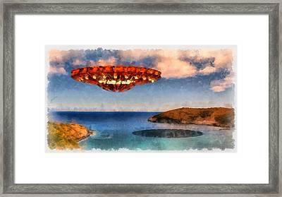 UFO Framed Print by Esoterica Art Agency