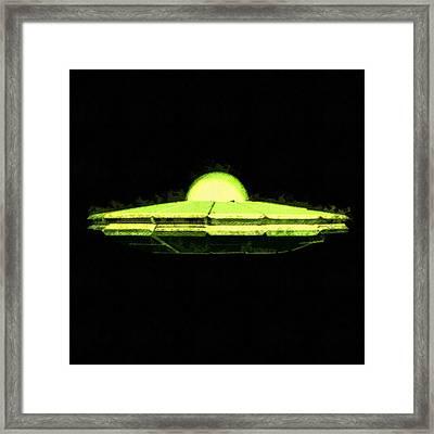 Ufo Ship Framed Print by Raphael Terra